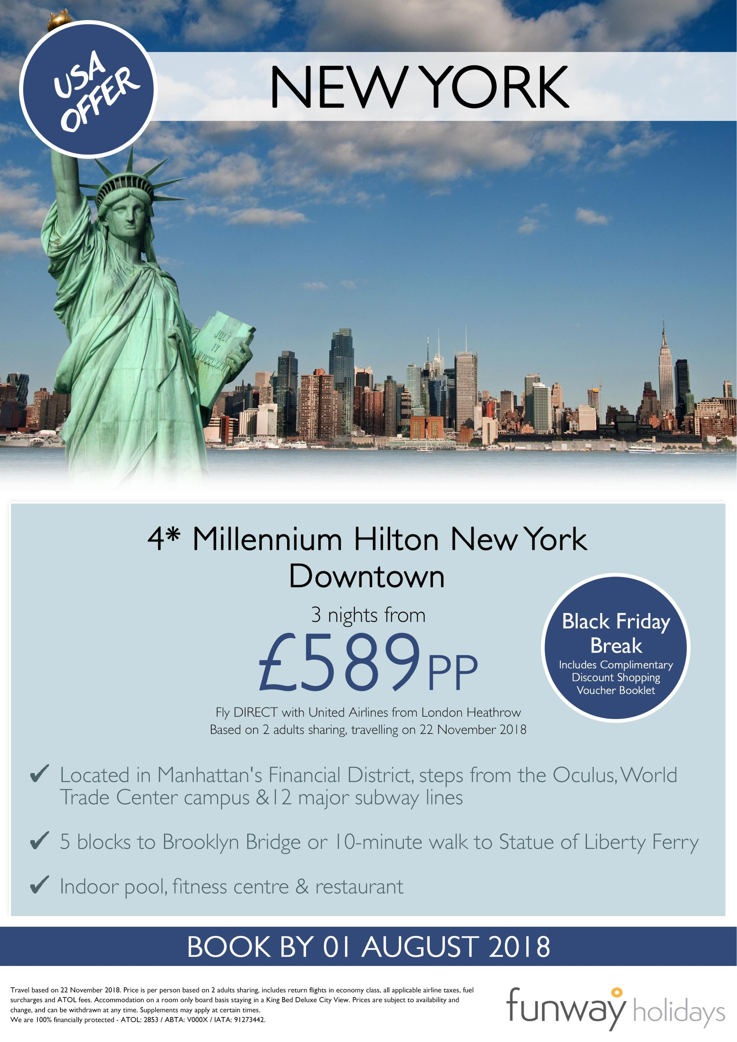 Black Friday Offer In New York Holiday Lounge